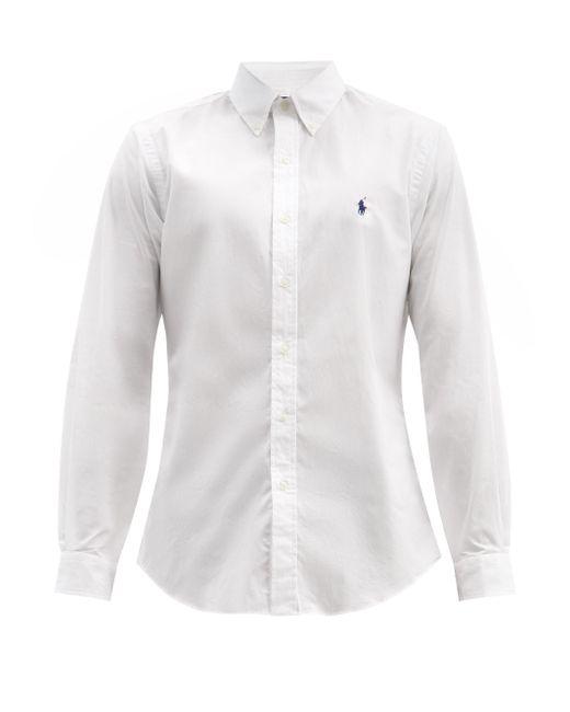 メンズ Polo Ralph Lauren ボタンダウン コットンポプリンシャツ White