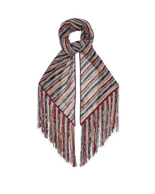 Missoni メタリック ストライプニット ラップスカーフ Multicolor