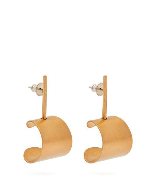 Fay Andrada - Multicolor Liike Curved Brass Earrings - Lyst