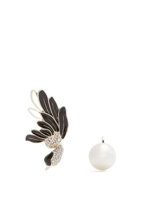 Lanvin | Multicolor Swan Asymmetric Clip-on Earrings | Lyst