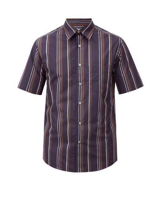 メンズ Dunhill ストライプ コットンブレンドポプリンシャツ Multicolor