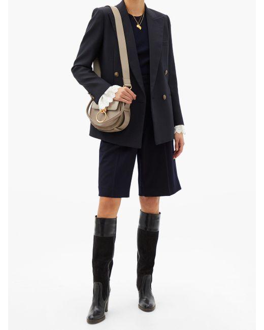 Chloé Gray Tess Small Leather Cross-body Bag