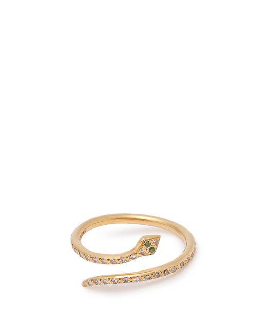 Ileana Makri - Metallic Python Diamond & 18kt Gold Ring - Lyst