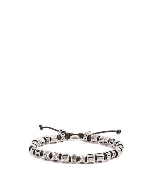 M. Cohen - Metallic Sterling-silver Bone Bracelet for Men - Lyst