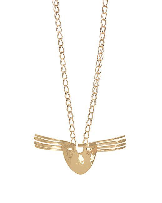 Aurelie Bidermann | Metallic Melina Mask Gold-plated Necklace | Lyst
