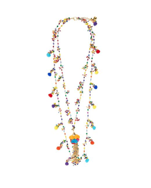Rosantica By Michela Panero | Multicolor Cancun Multi-stone And Pompom Necklace | Lyst
