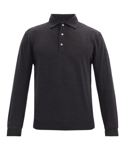 Thom Sweeney Multicolor Wool-jersey Long-sleeved Polo Shirt for men