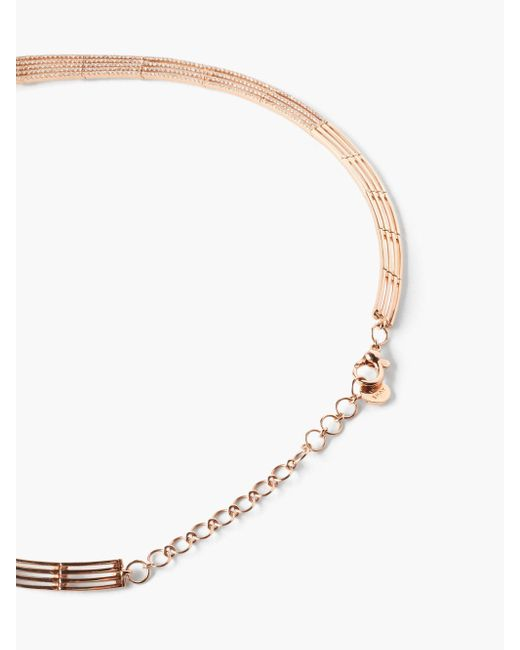 SHAY パヴェワールプール ダイヤモンド 18kローズゴールドネックレス Multicolor