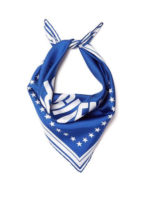 Givenchy | Blue Logo-print Silk-twill Scarf | Lyst