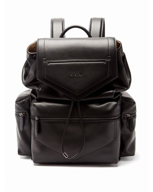 メンズ Givenchy アンティゴナ レザーバックパック Black