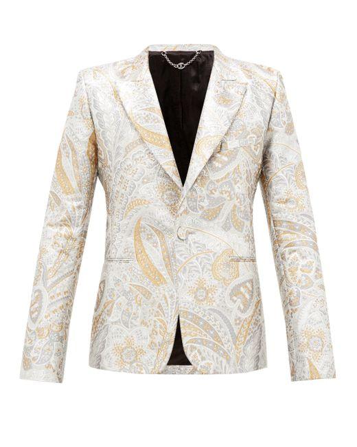 メンズ Paco Rabanne ペイズリーブロケード シングルスーツジャケット Natural