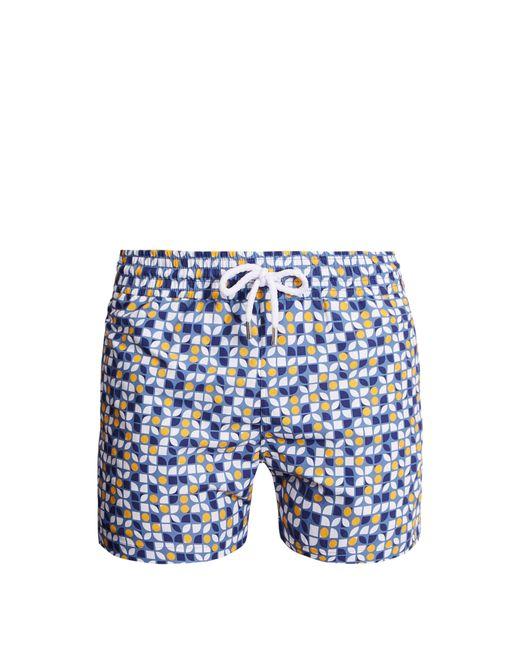 Short de bain à imprimé Cerejeira Sports Frescobol Carioca pour homme en coloris Blue