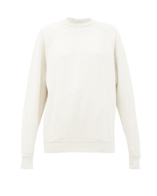 Les Tien ブラッシュドバックコットン スウェットシャツ Natural