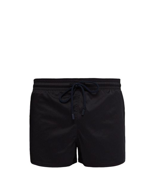 Vilebrequin Black Solid Quick Drying Swim Shorts for men