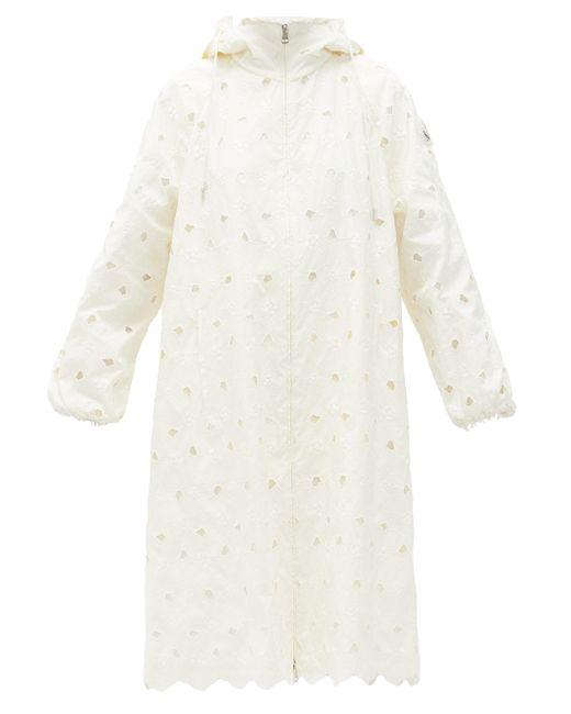 4 MONCLER SIMONE ROCHA ザレイア アイレットレース フーデッドジャケット White