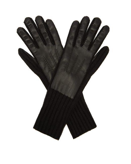 Gants en cachemire et cuir d'agneau Burberry pour homme en coloris Black
