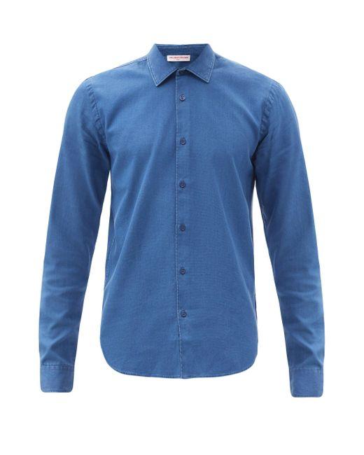メンズ Orlebar Brown ジャイルズ コットンデニムシャツ Blue