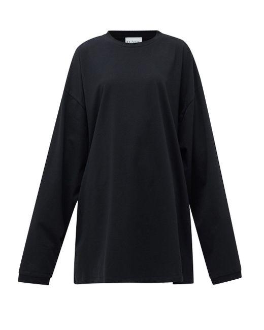 Raey オーバーサイズ リサイクルコットンブレンドtシャツ Black