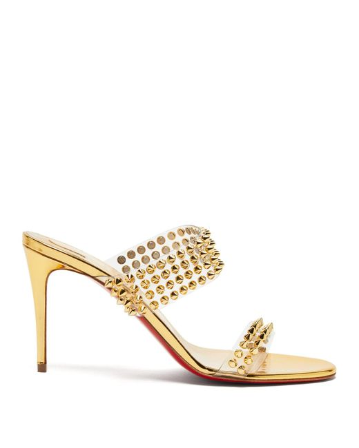Christian Louboutin Multicolor Spikes Only 85 Mirrored-leather Sandals