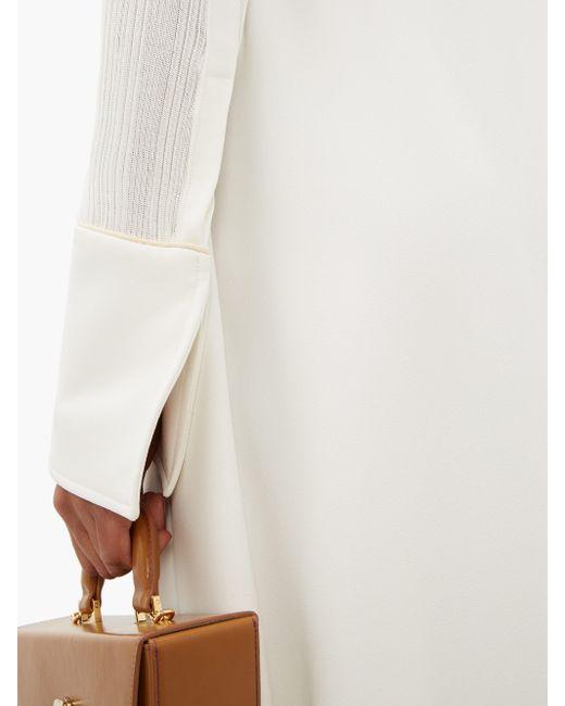 Ellery Calabasas ハーフジップ ポイントカラードレス White