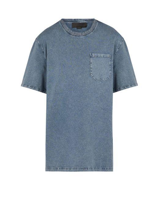 Stella McCartney - Blue Crew Neck Dyed Cotton Jersey T Shirt for Men - Lyst