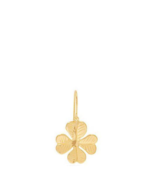 Aurelie Bidermann - Multicolor - Scarab Gold Plated Single Earring - Womens - Gold - Lyst