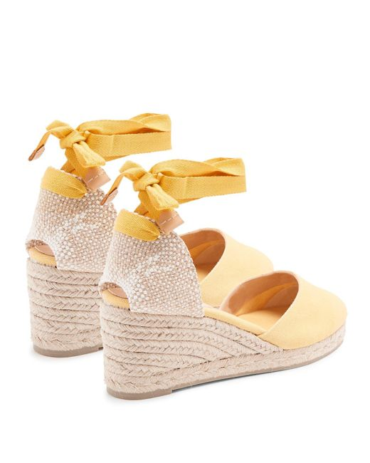 3f005b38d5e Women's Yellow Joyce 80 Canvas & Jute Espadrille Wedges