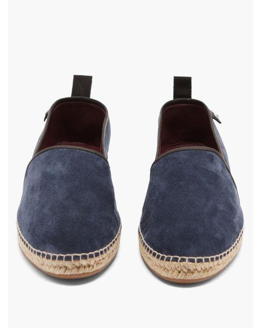 メンズ Dolce & Gabbana スエードエスパドリーユ Blue