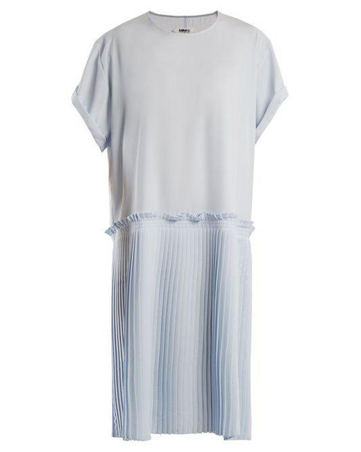 Knife-pleated crepe-cady dress Maison Martin Margiela dlCop1nxp