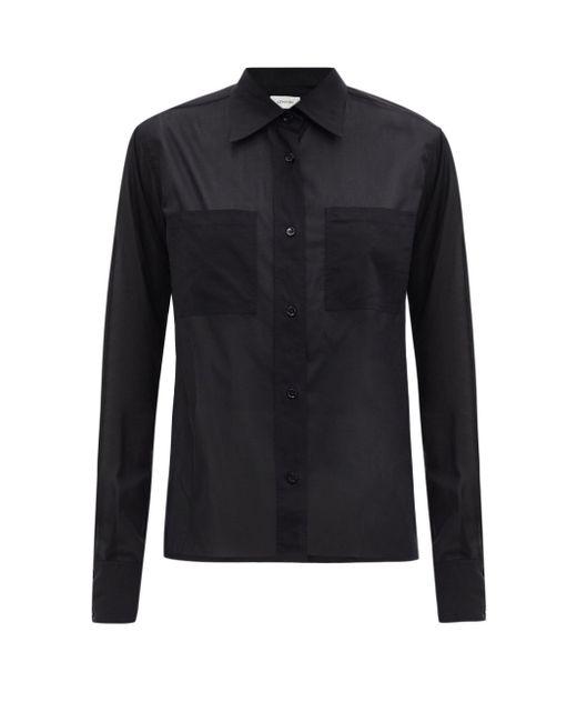 Lemaire パッチポケット コットンポプリンシャツ Black