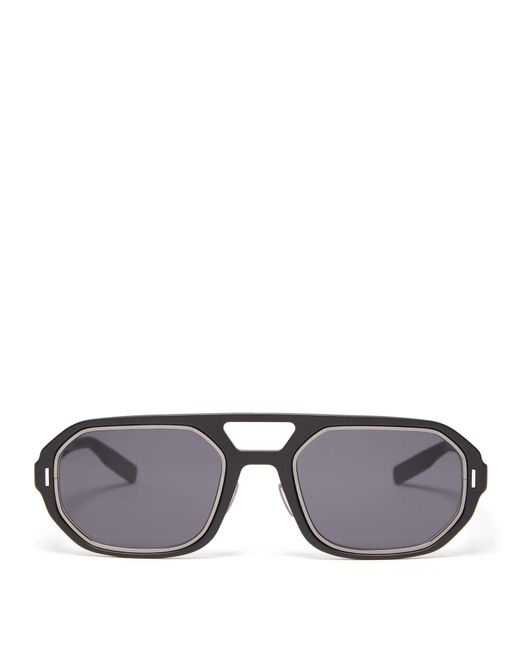 Dior Homme - Black D-frame Acetate Sunglasses for Men - Lyst