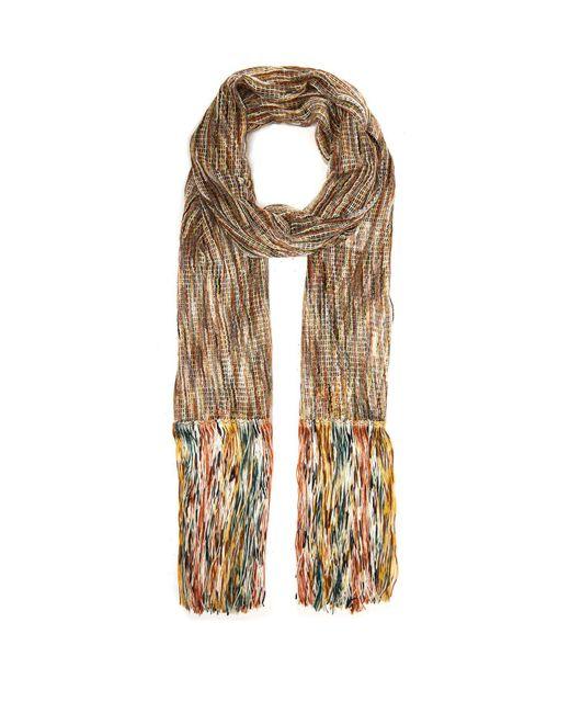 Missoni Multicolor Open Knit Tasseled Scarf