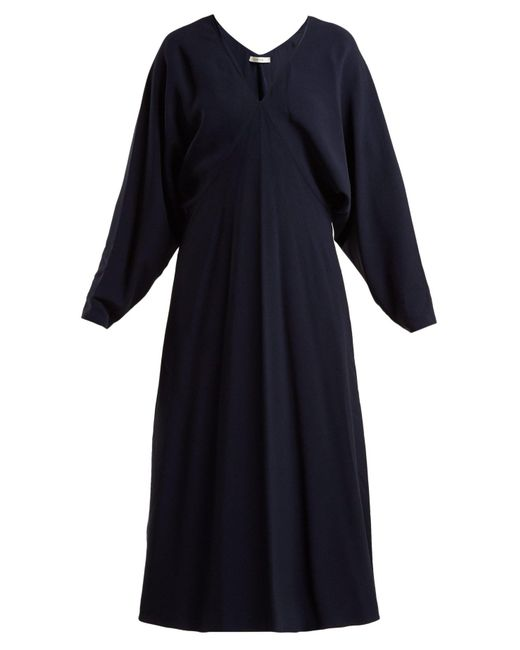 The Row - Blue Dan Cady Midi Dress - Lyst