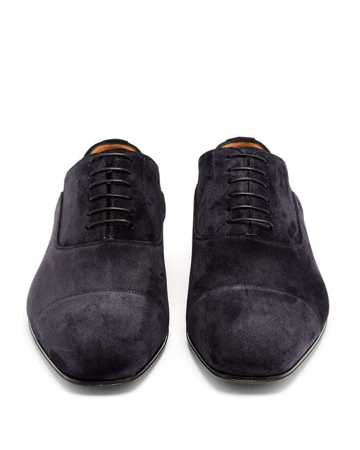 brand new e2b2f 12278 Christian Louboutin Greggo Suede Derby Shoes in Navy (Blue ...