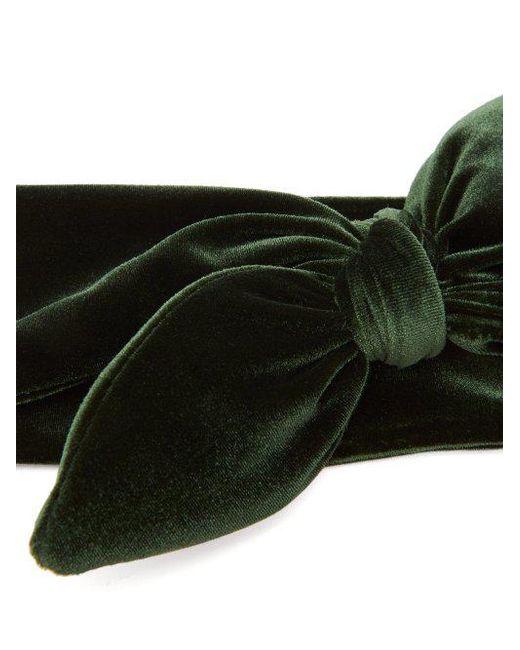 House of Lafayette Knotted-bow velvet headband ByO9nZCRGG