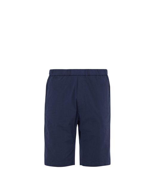 Barena - Blue Short en coton à cordon coulissant dissimulé for Men - Lyst
