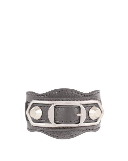 Balenciaga | Multicolor Classic Metallic Edge Leather Bracelet | Lyst