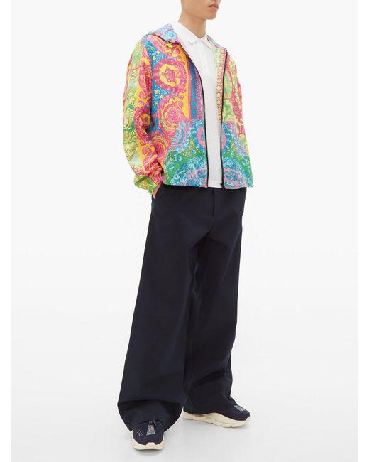 55d90063 Men's White Rainbow Logo Cotton Polo Shirt