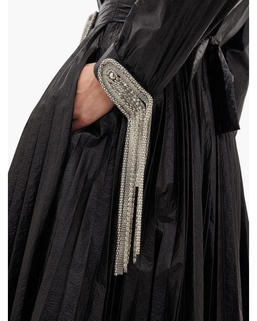 Christopher Kane チェーン&タッセル プリーツドレス Black