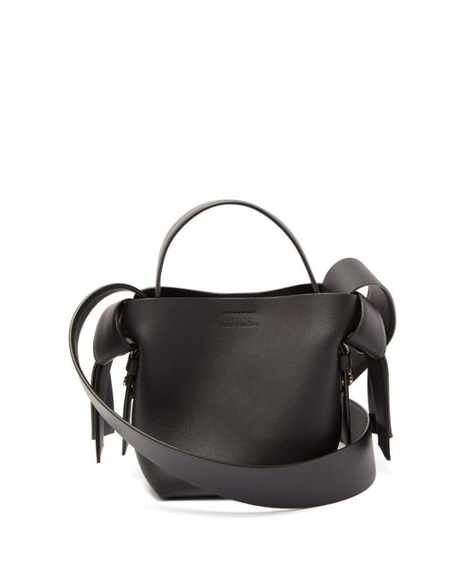 Acne Black Musubi Micro Leather Cross-body Bag