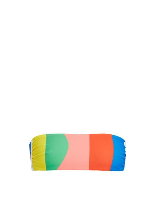 Mara Hoffman - Multicolor Beach Ball-print Bandeau Bikini Top - Lyst