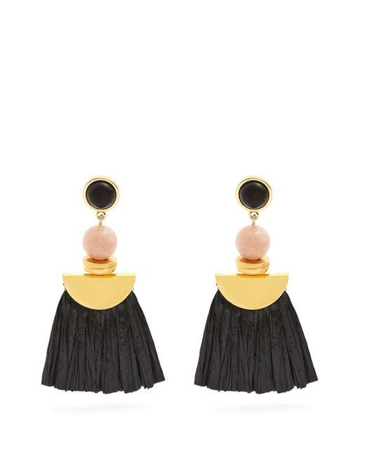 Lizzie Fortunato - Black Hula Ii Fringe Drop Earrings - Lyst