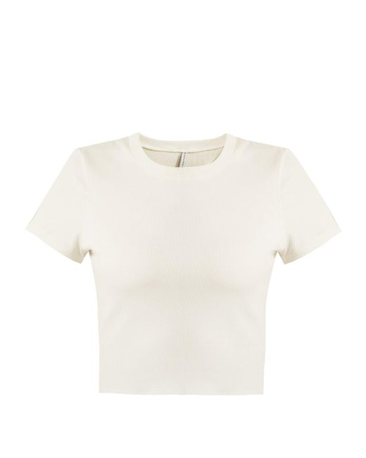 Solid & Striped - White The Madison Short-sleeved Rash Guard - Lyst
