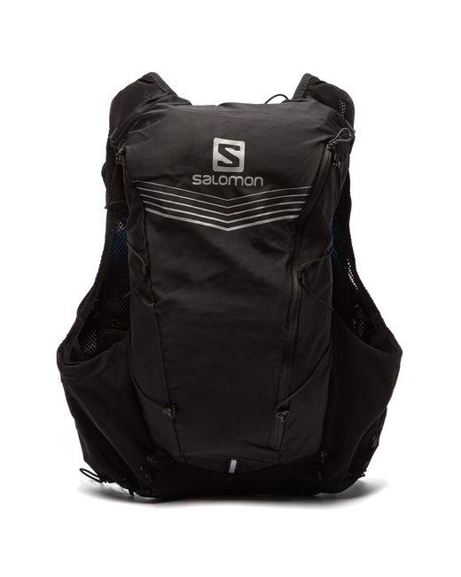 Yves Salomon Black Advanced Skin 12-set Running Backpack for men