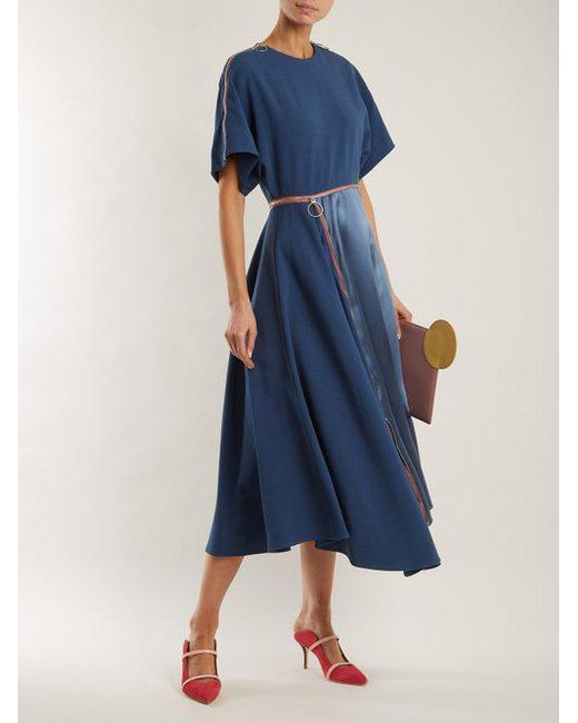 Gianna contrast-panel stretch-crepe dress Roksanda Ilincic fZBcBaeow