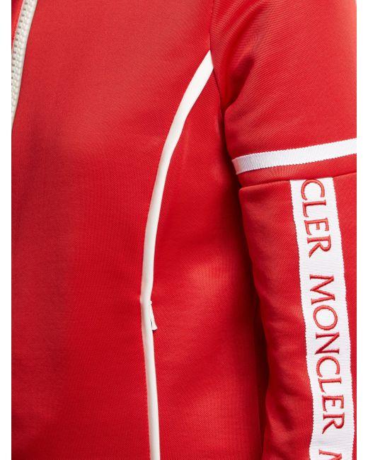 Moncler ストレッチジャージー トラックトップ Red