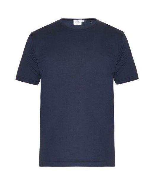 Sunspel - Blue Crewneck Tshirt for Men - Lyst