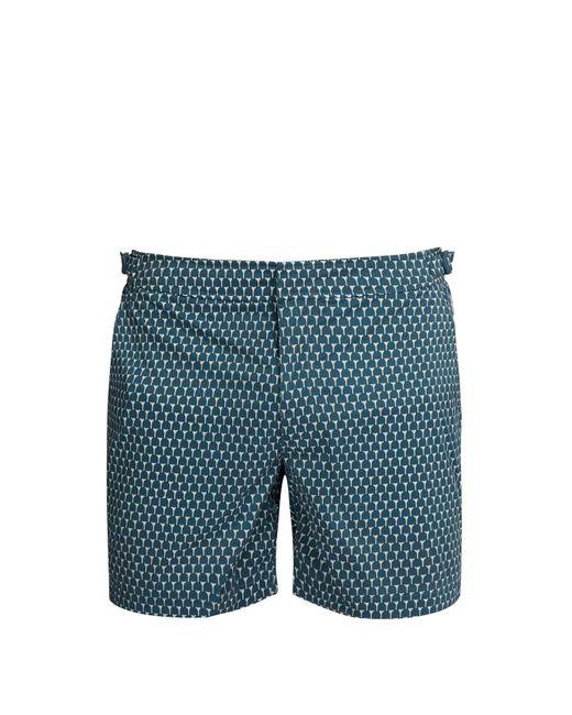 Orlebar Brown Blue Bulldog Sport Mid Length Swim Shorts for men