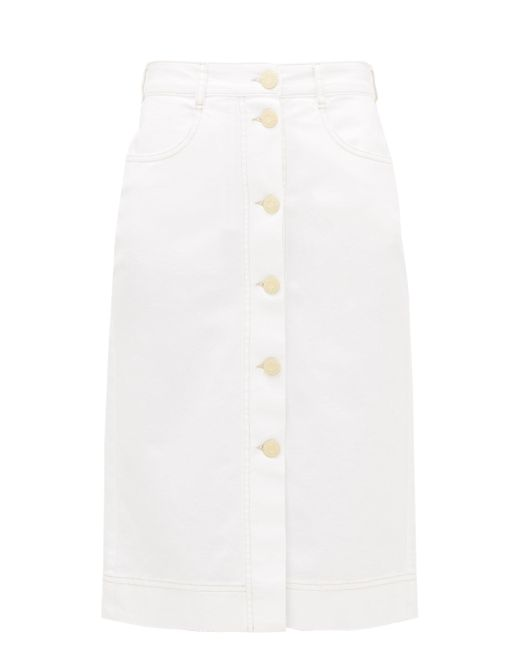 See By Chloé See By Chloé ハイライズ ブラッシュドコットンスカート White