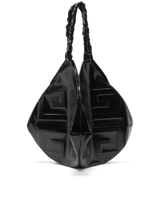 Givenchy バル ラージ 4gエンボス レザーショルダーバッグ Black